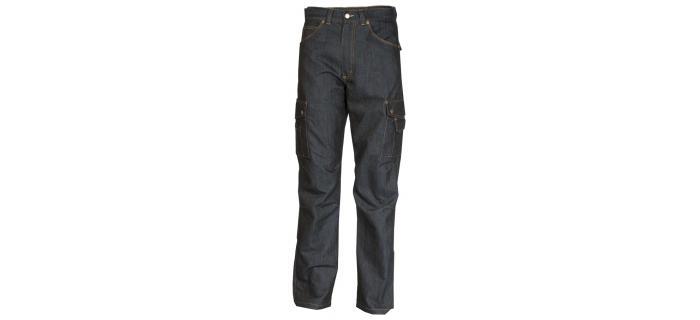 Pantalon jean bâtiment homme polycoton multipoches