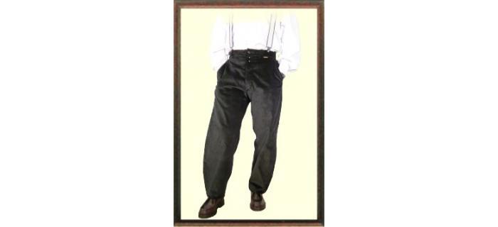 Pantalon charpentier Largeot à passants marron velours marque française le Laboureur