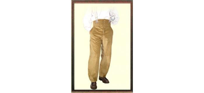 """Pantalon de charpentier Largeot velours à tirant NOIR marque française le Laboureur nous offrant  une paire de bretelle """"HERCULE"""" (valeur 15€) voir photo (les bretelles sont grises)"""