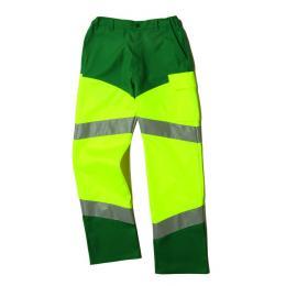 Pantalon fluo Epi-haute visibilité jaune fluo / vert amazonie avec bandes réfléchissantes