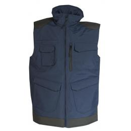 Gilet Bâtiment de froid craft worker bleu navy / noir