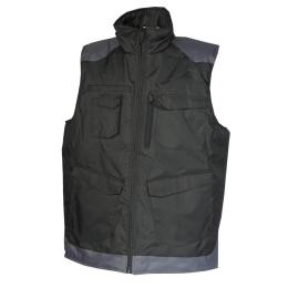 Gilet Bâtiment de froid craft worker noir / gris convoy