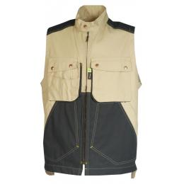 Gilet bâtiment homme Craft worker savane / noir