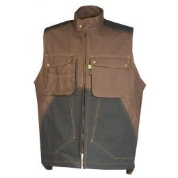 Gilet bâtiment homme Craft worker marron / noir