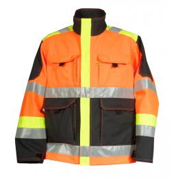 Blouson Epi-ultra-visibilité orange fluo / gris charcoal