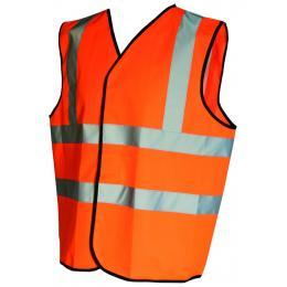 Gilet fluo Epi-haute visibilité orange fluo
