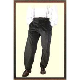 Pantalon de travail charpentier Largeot  velours à passants noir marque française le Laboureur