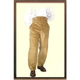 """Pantalon charpentier Largeot à tirant MARRON velours marque française le Laboureur, nous offrant une paire de bretelle """"HERCULE"""" (d'une valeur de 15€)voir photo"""