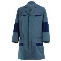 Blouse Facity grise/bleu marine