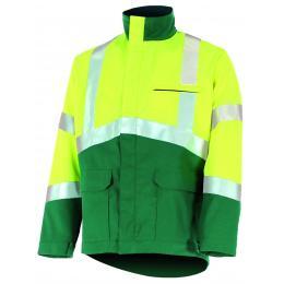 Blouson fluo Epi-haute visibilité jaune fluo / vert amazonie