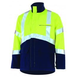 Blouson fluo Epi-haute visibilité jaune fluo / marine