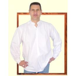 """Chemise """"style grand père"""" blanche 100% coton du LABOUREUR"""