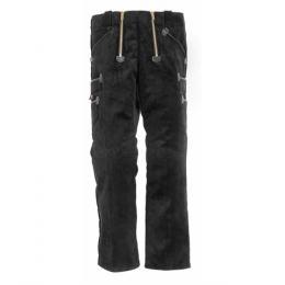 Le Egon largeot allemand noir velours/cuir véritable haut de gamme