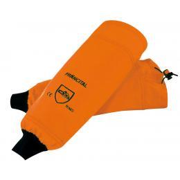 Manchette de protection contre les coupures de scie à chaine (tronçonneuse) orange
