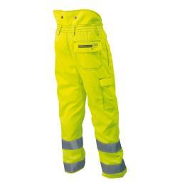 Pantalon de haute visibilité d'élagage jaune