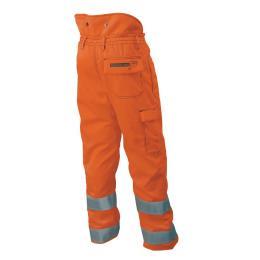 Pantalon de haute visibilité d'élagage  orange
