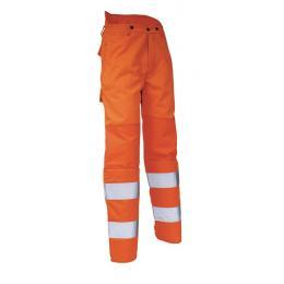 Pantalon haute visibilité de débroussaillage orange