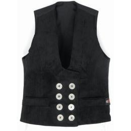 """LE gilet """"LE HILDE"""" velours noir avec boutons blancs du fabricant F.H.B"""