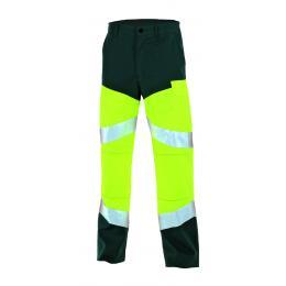 Pantalon E.P.I. haute visibilité jaune fluo/vert us
