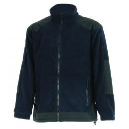 Veste polaire bleu navy/noir résistante et chaude
