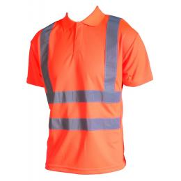 Polo fluo Epi-haute visibilité orange fluo