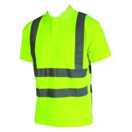 Polo fluo Epi-haute visibilité jaune fluo