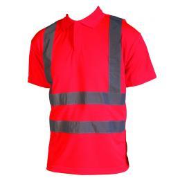 Polo fluo Epi-haute visibilité rouge fluo
