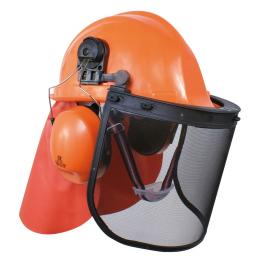 Casque forestier orange
