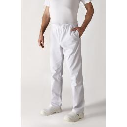 Pantalon de cuisinier unisex blanc 1er prix