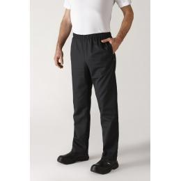 Pantalon de cuisinier unisex noir 1er prix
